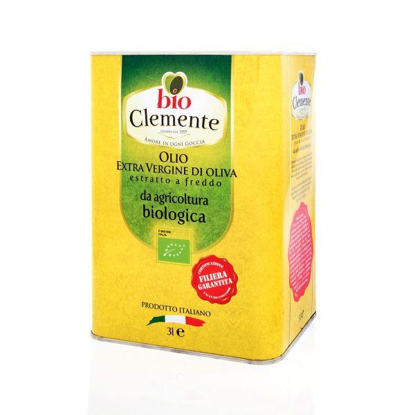 """Olio Extravergine 100% Biologico """"Bio Clemente"""" 3 Litri"""