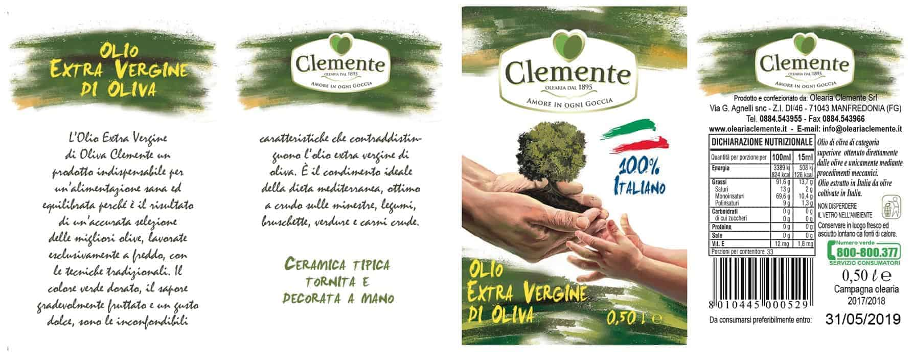 Orciolino a 2 Manici Giallo Le Zagare 100% Italiano 500ml - Etichetta
