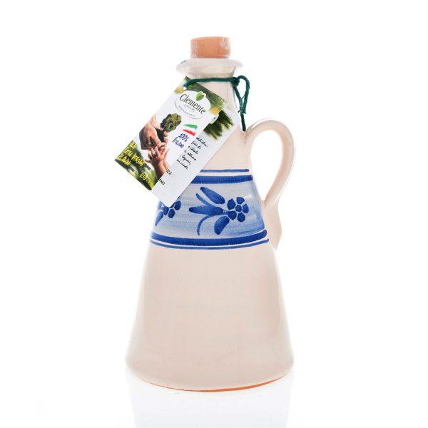 """Orciolino in ceramica Blu """"Le Zagare"""" 100% Italiano 500ml"""