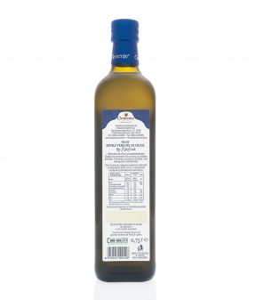 Olio Extravergine 100% Italiano DOP Re Manfredi 750ml - Retro