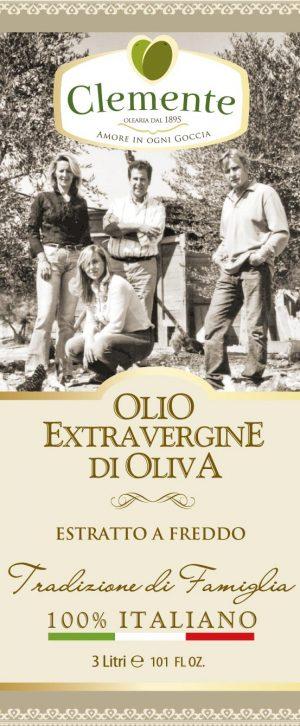 Olio 100% Italiano Tradizione di Famiglia 3 Litri - Etichetta Fronte