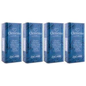 """""""Bundle Pack 4 x Le Zagare 5 litri"""" Olio Extravergine 100% Italiano - fronte"""
