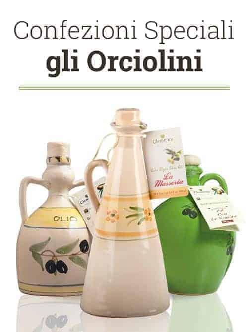Confezioni Speciali per Olio, gli Orciolini