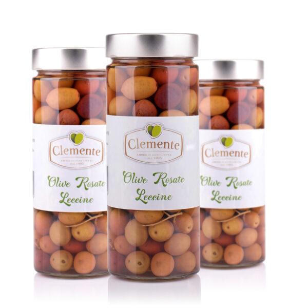 3 vasetti di Olive Rosate Leccine