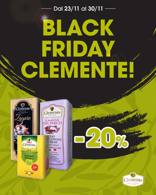 Black Friday Clemente - 20% di Sconto