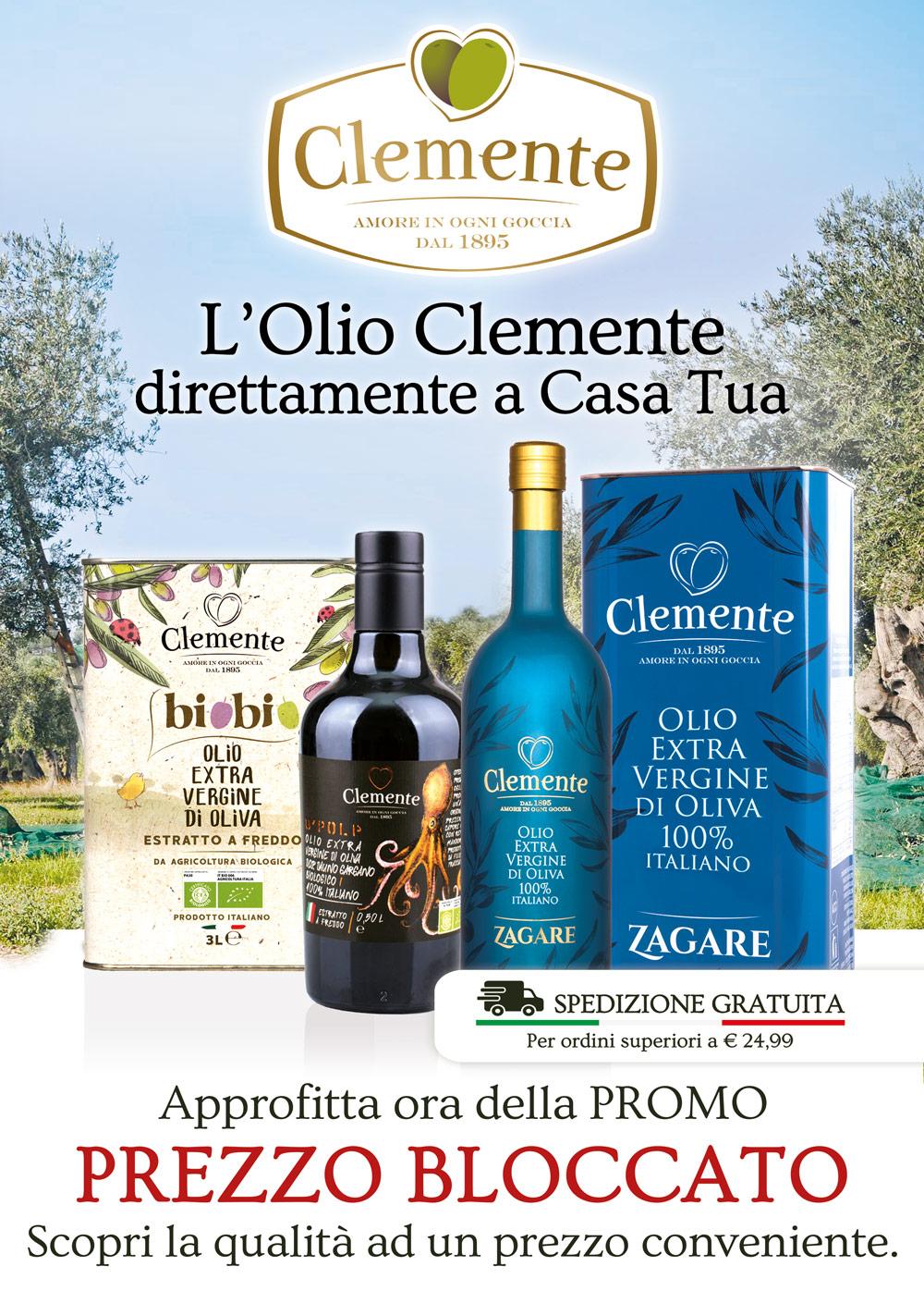 L'olio Clemente direttamente a Casa Tua - mobile