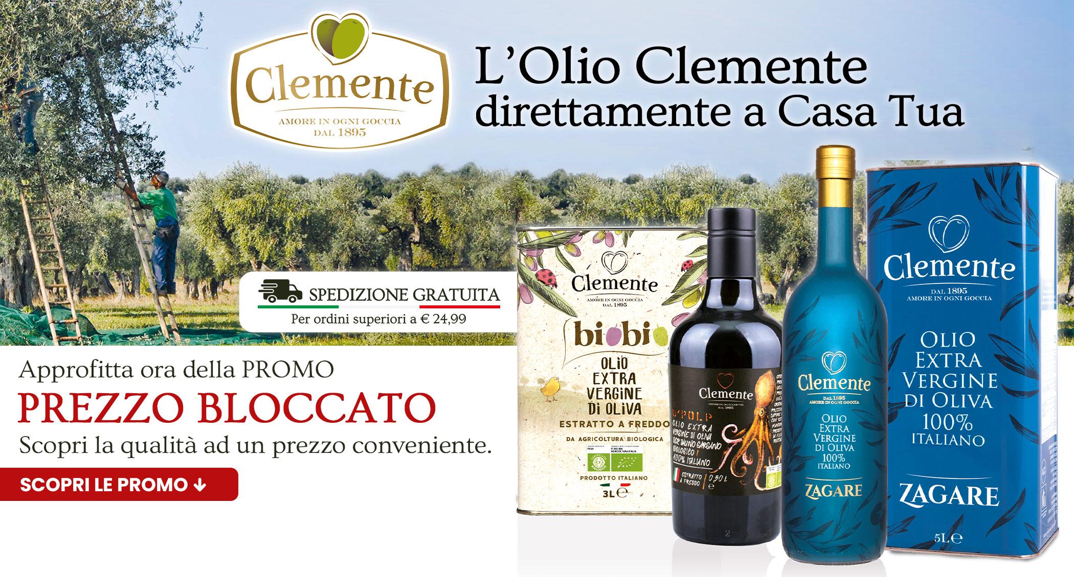 L'olio Clemente direttamente a Casa Tua